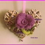 Filzrose auf Herz